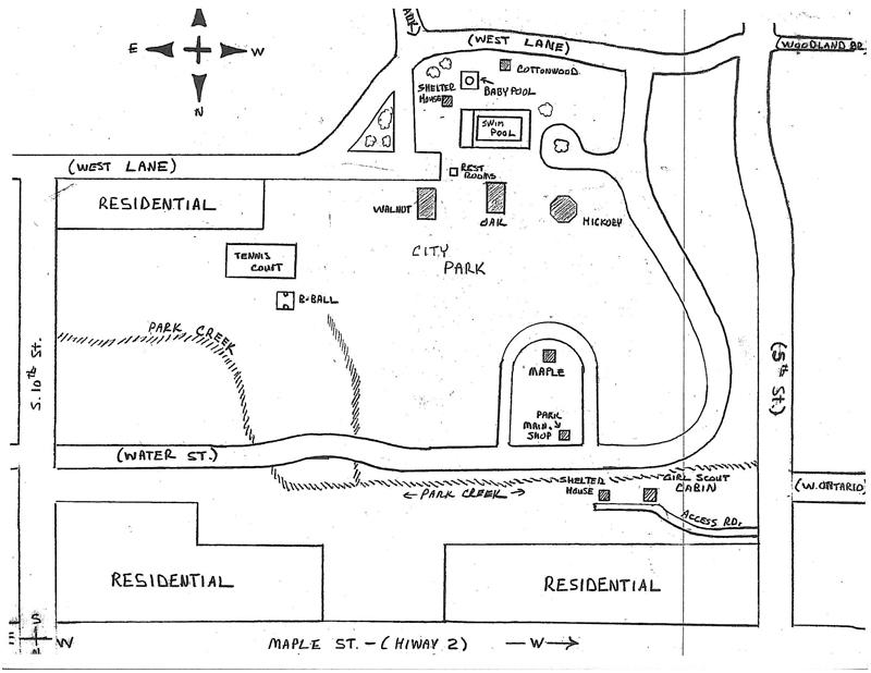 map of Morgan Cline Park