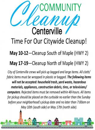 Flyer for Citywide Cleanup - information in text